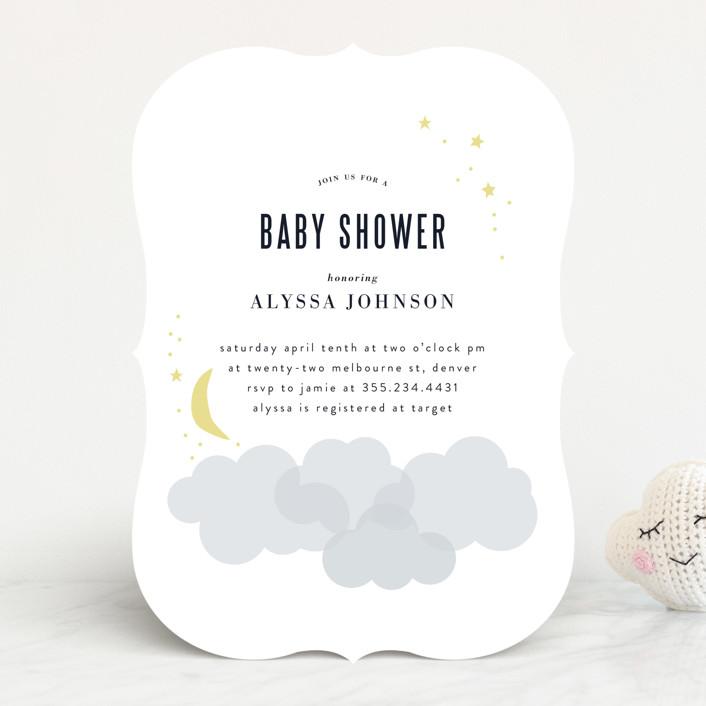 """lullabye"" - Baby Shower Invitations in Blush by Angela Garrick."
