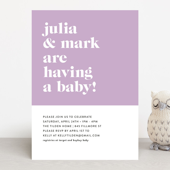 """""""Modern Block"""" - Baby Shower Invitations in Baby Blue by Roxy Cervantes."""