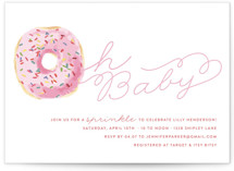 This is a colorful baby shower invitation by Lagniappe Paper called Sprinkle Me One with standard printing on signature in standard.