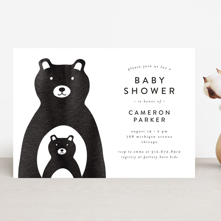 """Mama and Me"" - Baby Shower Invitations in Navy by Lehan Veenker."
