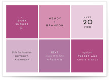 This is a pink baby shower invitation by Genna Cowsert called Color Blocking with standard printing on signature in standard.