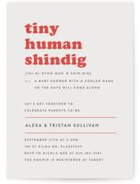 This is a red baby shower invitation by Bonjour Berry called Tiny Human with standard printing on signature in standard.