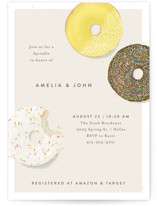 This is a yellow baby shower invitation by Julie Murray called Simple Sprinkle with standard printing on signature in standard.