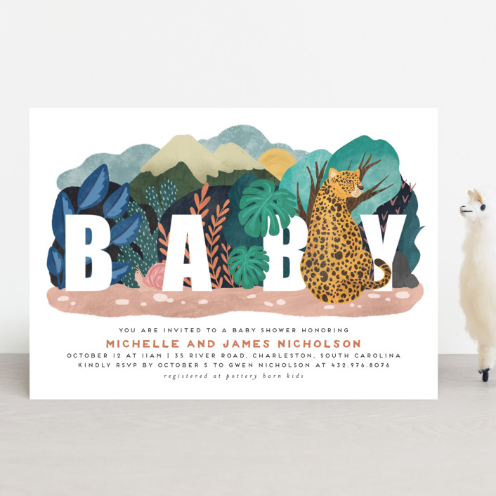 """Camouflage Warriors"" - Whimsical & Funny Baby Shower Invitations in Day by Grae Sales."
