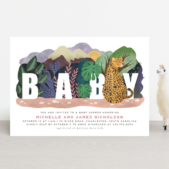 """Camouflage Warriors"" - Whimsical & Funny Baby Shower Invitations in Day by Grae."