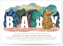This is a orange baby shower invitation by Grae Sales called Camouflage Warriors with standard printing on signature in standard.