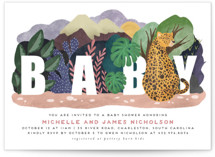 This is a pink baby shower invitation by Grae Sales called Camouflage Warriors with standard printing on signature in standard.