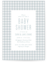 This is a blue baby shower invitation by Lea Delaveris called Charming with standard printing on signature in standard.