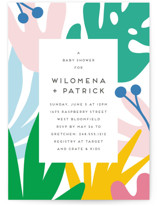 This is a colorful baby shower invitation by Genna Blackburn called Fun Foliage with standard printing on signature in standard.
