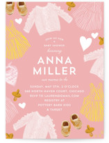 This is a pink baby shower invitation by Baumbirdy called Happy Heart with standard printing on signature in standard.