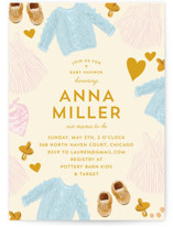 This is a yellow baby shower invitation by Baumbirdy called Happy Heart with standard printing on signature in standard.