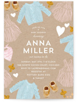 This is a brown baby shower invitation by Baumbirdy called Happy Heart with standard printing on signature in standard.