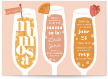 This is a pink baby shower invitation by Laura Hankins called Momosa Party with standard printing on signature in standard.