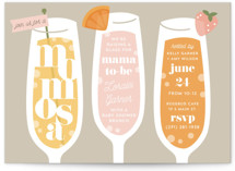 This is a grey baby shower invitation by Laura Hankins called Momosa Party with standard printing on signature in standard.