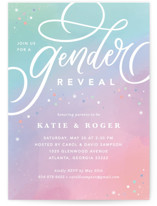 This is a blue baby shower invitation by Kristen Smith called Chroma with standard printing on signature in standard.