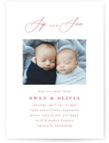 This is a pink baby shower invitation by Ana Sharpe called Minimalist Duo with standard printing on signature in standard.