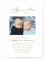 This is a brown baby shower invitation by Ana Sharpe called Minimalist Duo with standard printing on signature in standard.