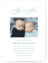 This is a green baby shower invitation by Ana Sharpe called Minimalist Duo with standard printing on signature in standard.