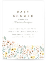 This is a brown baby shower invitation by Karidy Walker called Wildflowers with standard printing on signature in standard.
