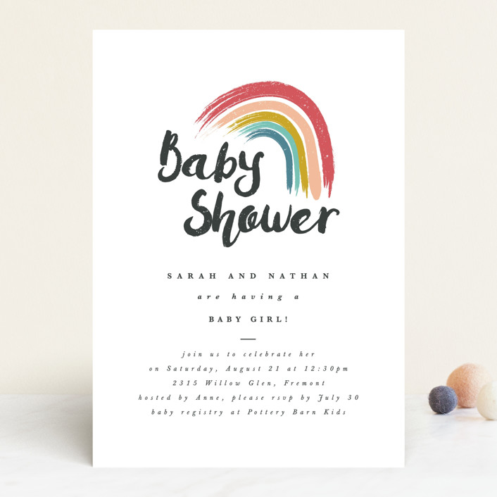 """Rainbow Hope"" - Baby Shower Invitations in Popsicle by Kanika Mathur."