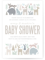 This is a brown baby shower invitation by Jessie Steury called Modern Forest with standard printing on signature in standard.