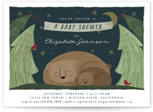 This is a blue baby shower invitation by Joanna Griffin called Mama Bear with standard printing on signature in standard.