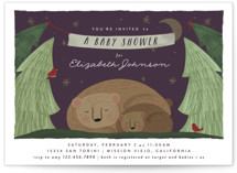 This is a green baby shower invitation by Joanna Griffin called Mama Bear with standard printing on signature in standard.