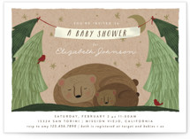 This is a brown baby shower invitation by Joanna Griffin called Mama Bear with standard printing on signature in standard.