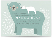 This is a green baby shower invitation by Karidy Walker called Mama Bear with standard printing on signature in standard.