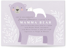 This is a purple baby shower invitation by Karidy Walker called Mama Bear with standard printing on signature in standard.