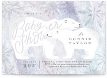 This is a blue baby shower invitation by Alethea and Ruth called Snow Bear Hug with standard printing on signature in standard.