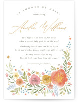 This is a orange baby shower invitation by Robert and Stella called Flowers by Mail with standard printing on signature in standard.