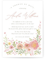 This is a pink baby shower invitation by Robert and Stella called Flowers by Mail with standard printing on signature in standard.