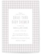 This is a purple baby shower invitation by Lea Delaveris called Charming with standard printing on signature in standard.