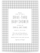 This is a grey baby shower invitation by Lea Delaveris called Charming with standard printing on signature in standard.