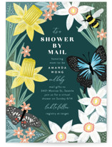 This is a green baby shower invitation by Alethea and Ruth called Garden Mail with standard printing on signature in standard.