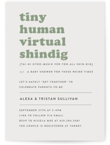 This is a green baby shower invitation by Corinne Malesic called Virtual Shindig with standard printing on signature in standard.
