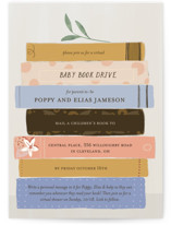 This is a pink baby shower invitation by Lottie Made Co called Book Lovers with standard printing on signature in standard.