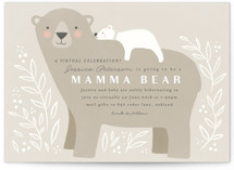 This is a brown baby shower invitation by Karidy Walker called Mama Bear with standard printing on signature in standard.
