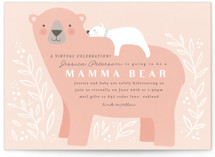 This is a pink baby shower invitation by Karidy Walker called Mama Bear with standard printing on signature in standard.