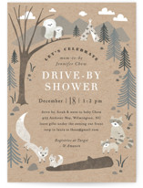 This is a brown baby shower invitation by Jennifer Wick called Woodland's welcome with standard printing on signature in standard.