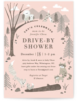 This is a pink baby shower invitation by Jennifer Wick called Woodland's welcome with standard printing on signature in standard.