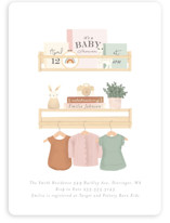This is a orange baby shower invitation by Itsy Belle Studio called Baby Girl Shelves with standard printing on signature in standard.