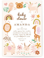 This is a brown baby shower invitation by Phrosne Ras called safari baby with standard printing on signature in standard.