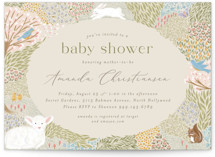 This is a beige baby shower invitation by Joanna Griffin called Springtime Meadow with standard printing on signature in standard.