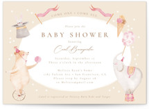 This is a beige baby shower invitation by frau brandt called Baby Circus with standard printing on signature in standard.