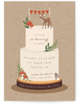 This is a brown baby shower invitation by Caitlin Considine called Woodland with standard printing on signature in standard.
