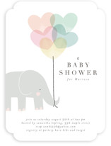 This is a pink baby shower invitation by Lori Wemple called Elephant with standard printing on signature in standard.