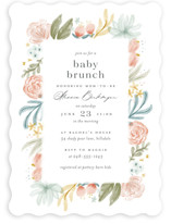 This is a pink baby shower invitation by Ashley DeMeyere called Blooming Brunch with standard printing on signature in standard.