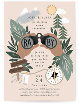 This is a brown baby shower invitation by Alethea and Ruth called Adventure on the horizon with standard printing on signature in standard.